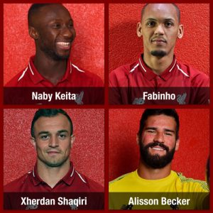Four New Liverpool FC faces